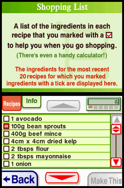 Cooking guide screenshot